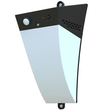 Solar LED Security Light w/ Motion Alarm Function