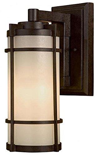 Minka Lavery Outdoor Wall Light 72023-A179-PL Mirador Exterior Wall Lantern, 13 Watts Fluorescent, Bronze