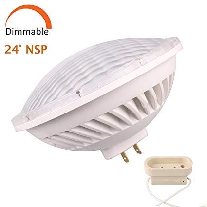 Par56 LED Bulb Dimmable 28W Warm White Spot Light (2700-3000K) NSP 24°Beam Angle GX16D Base, Replace Par 56 300W Halogen Light