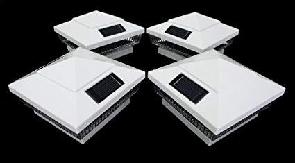 14-Pack Solar White Post Deck Fence Cap Lights for 4