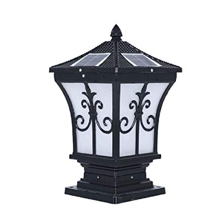 Solar lights/the stigma Wall lamp/outdoor landscape lighting/garden lighting/LED solar post light, black