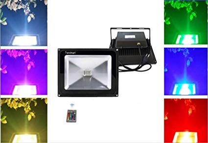 Spotlights Security Light Trendmart® LED Flood Light RGB 50w Waterproof IP65 Landscape Lights Outdoor Lighting Garden Light Come with Us Standard 3 Pin Plug (50w,Color Changing with plug )