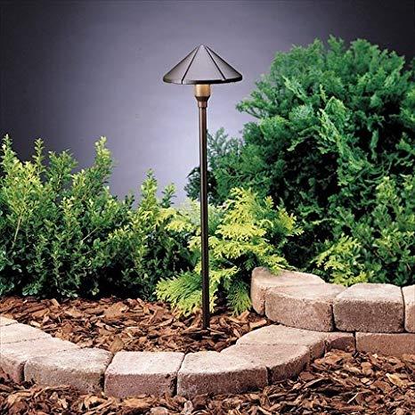 Kichler Lighting 15326AZT Six Groove Bronze Landscape Path Light