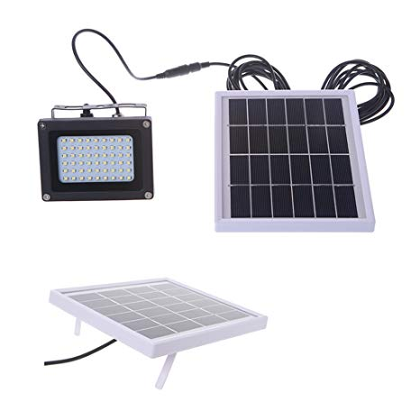 Aplus Solar Powered Floodlight Spotlight, Outdoor Waterproof Security Light 54 LED 400lm Garden Lawn Pool