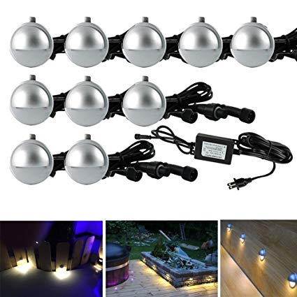 Pack of 10 Low Voltage LED Deck Light Kit Φ1.38