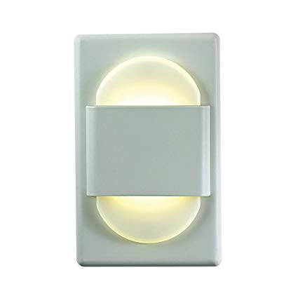 Alico Industries WLE105DR32K-10-30 EZ LED Step Light, White Finished Trim with Opal Acrylic Lens, 4.875