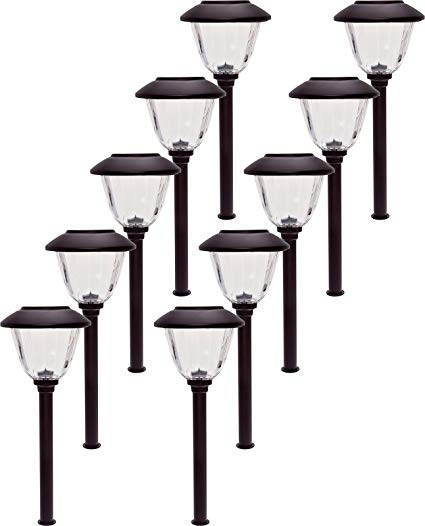 Energizer 10 Pack Stainless Steel LED Solar Path Lights (Bronze)