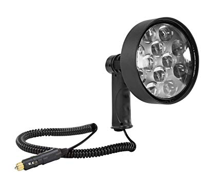 10 Million Candlepower LED Spotlight - 36 Watt - Pistol Grip - 1600 Foot Beam - 2000 Lumens