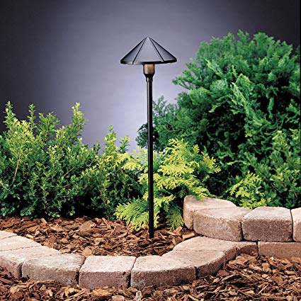Kichler 15326BKT Six Groove Path & Spread 1-Light 12V, Textured Black