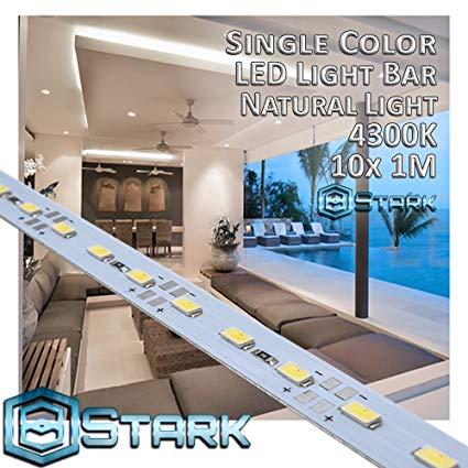 Aluminum LED Solid Strips - Interior Design Lighting - Natural Light - 4300K - 10 Sets (10M/32.8FT)