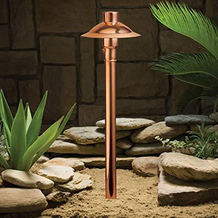 Kichler 15350CO Copper Path & Spread 1-Light 12V, Copper