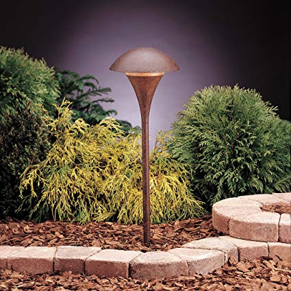 Kichler 15236TZT Eclipse Path & Spread 1-Light 120V, Textured Tannery Bronze