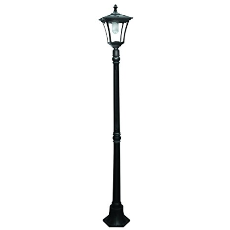 Paradise by Sterno Home Cast-Aluminum Solar-Powered LED Streetlight-Style Outdoor Light