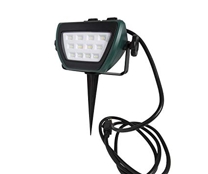 Illuminator 41927 Multi-Color 500 Lumen LED Stake Light with Outlets
